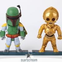 """(Set) Bobba Fett & C3PO - Star Wars - 3,7"""""""