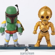 (Set) Bobba Fett & C3PO - Star Wars - 3,7""